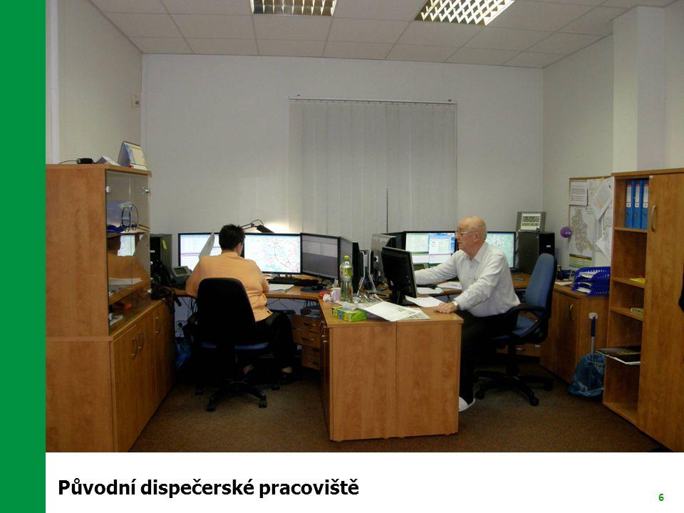 6 Původní dispečerské pracoviště