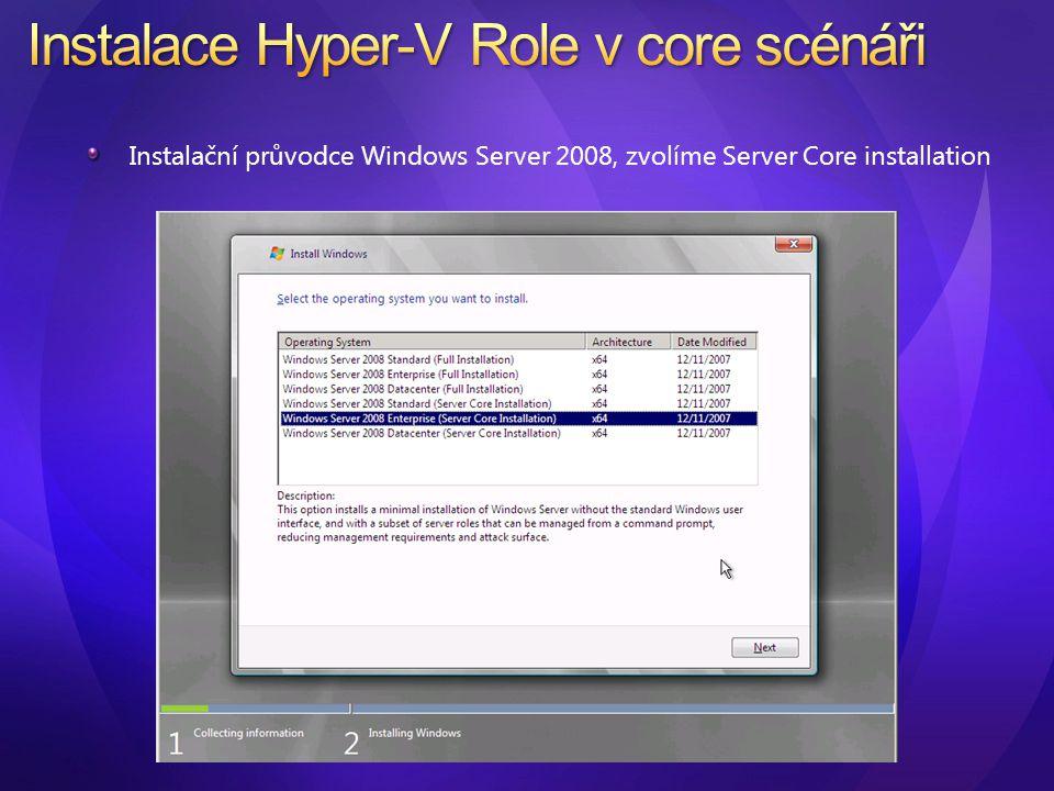 ocsetup Microsoft-Hyper-V Nutný restart