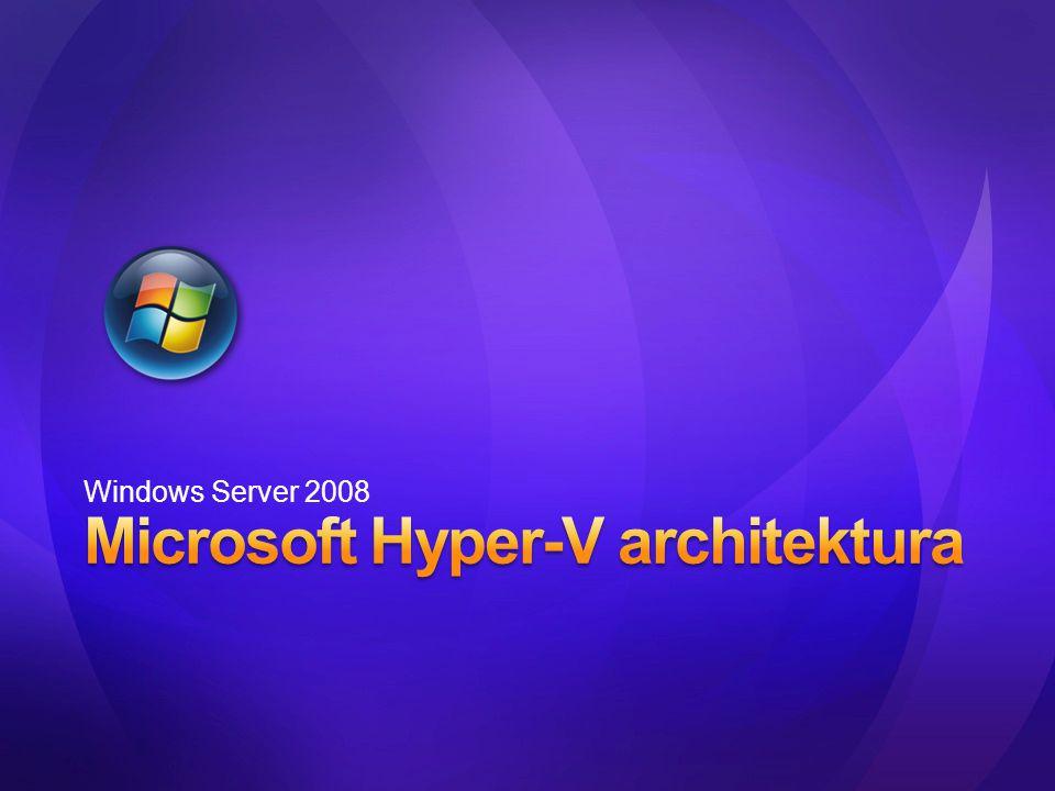 Windows Hyper-V Virtualizace integrovaná do Windows Serveru 2008 VHD formát Možnost využití třetími stranami Snadná migrace Nástroje pro správu VM 2 Child VM 1 Parent VM 2 Child