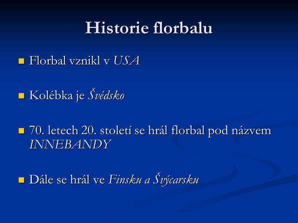 Historie florbalu Florbal vznikl v USA Florbal vznikl v USA Kolébka je Švédsko Kolébka je Švédsko 70.
