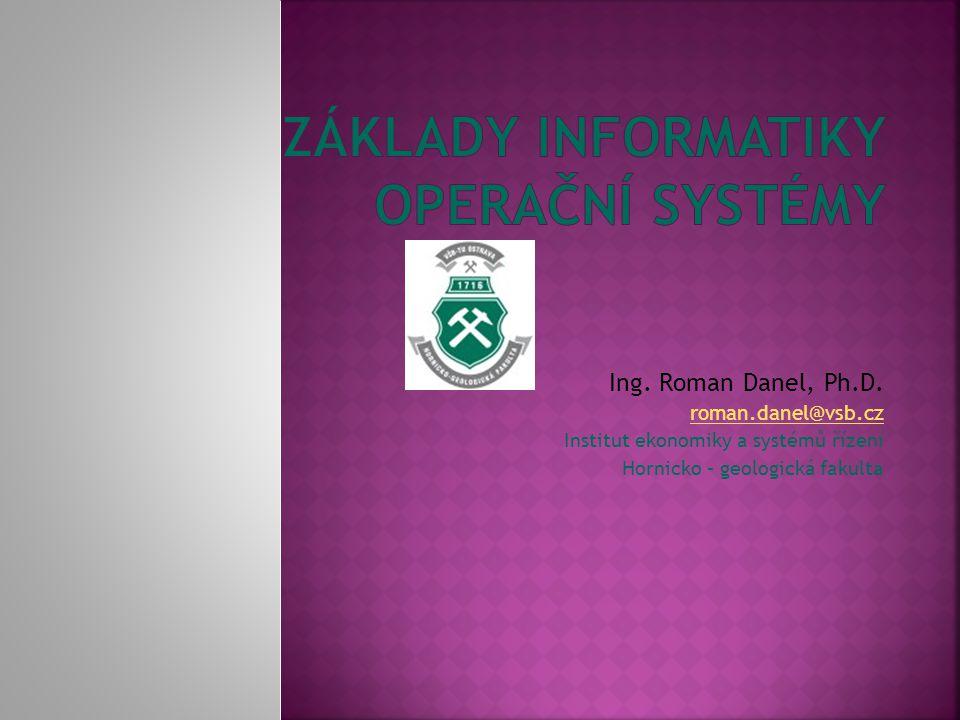 Ing.Roman Danel, Ph.D.