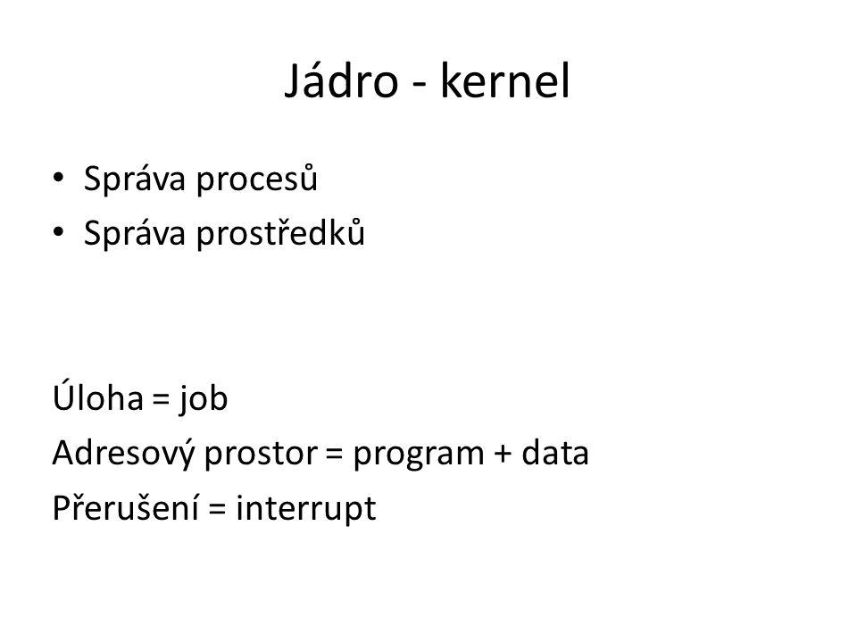 Linux 1991 Linus Torwalds Linux = jádro Distribuce – Debian, Ubuntu, Kubuntu, … – Red hat, Fedora, … – Live distribuce – spustitelné z CD – RT distribuce Distribuce mají verze