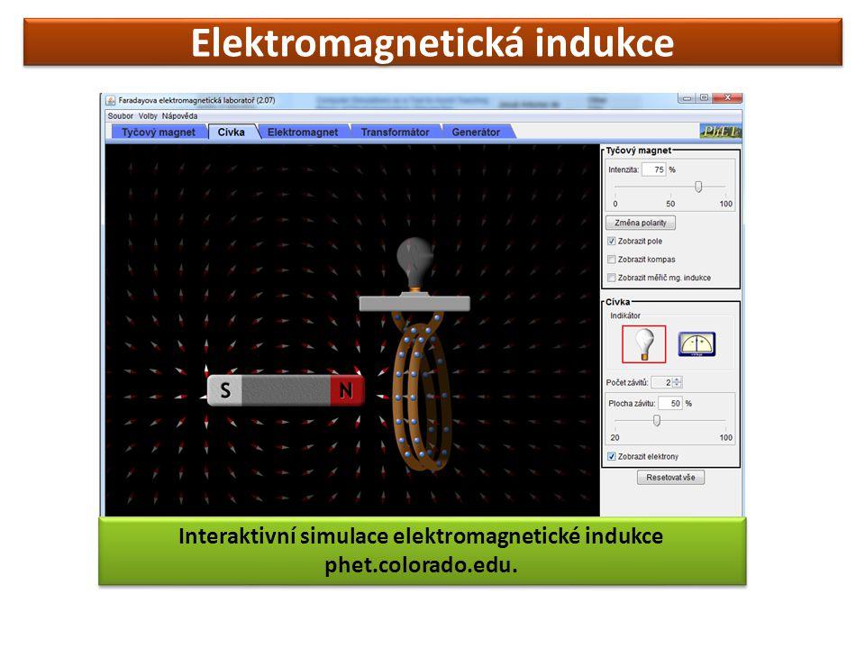 Elektromagnetická indukce Interaktivní simulace elektromagnetické indukce phet.colorado.edu.