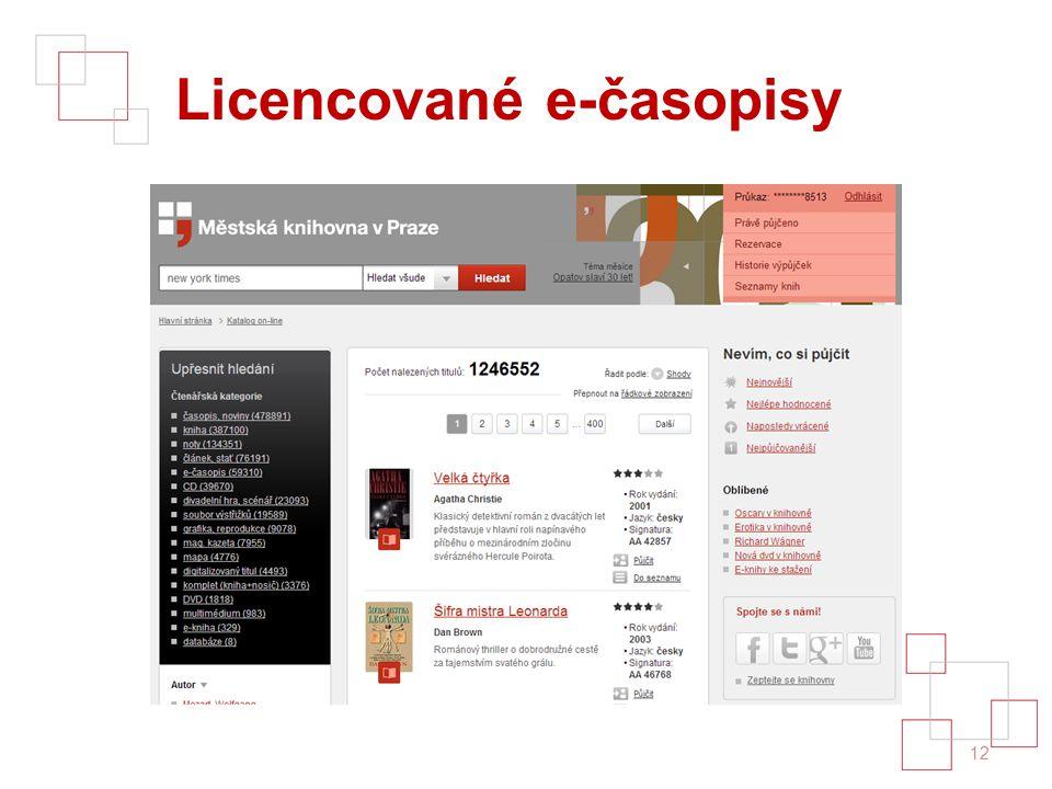 Licencované e-časopisy 12