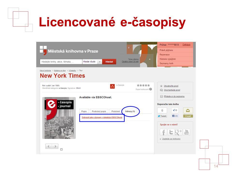 Licencované e-časopisy 14