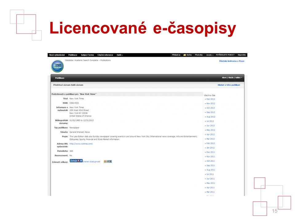Licencované e-časopisy 15