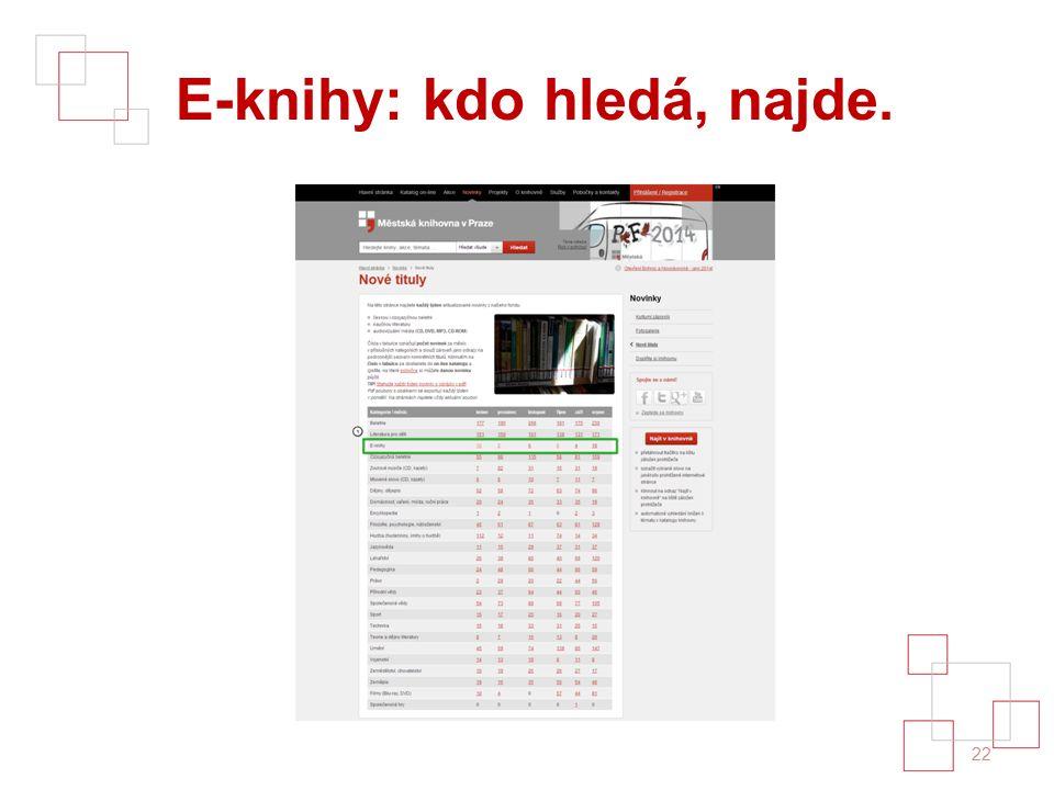 E-knihy: kdo hledá, najde. 22