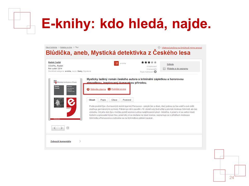 E-knihy: kdo hledá, najde. 24