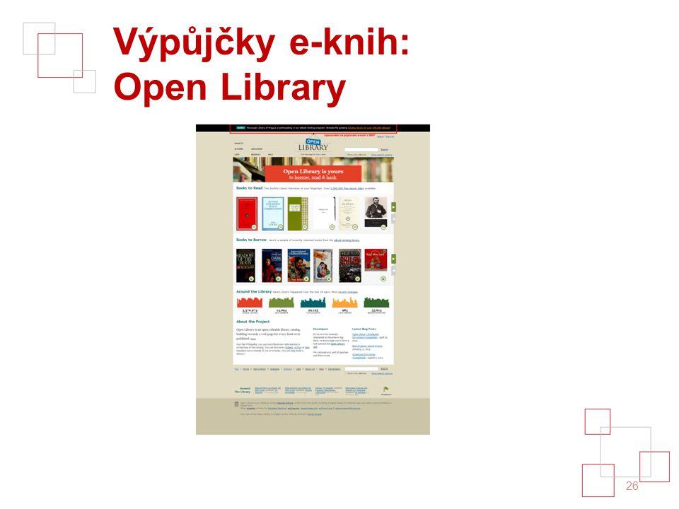 Výpůjčky e-knih: Open Library 26