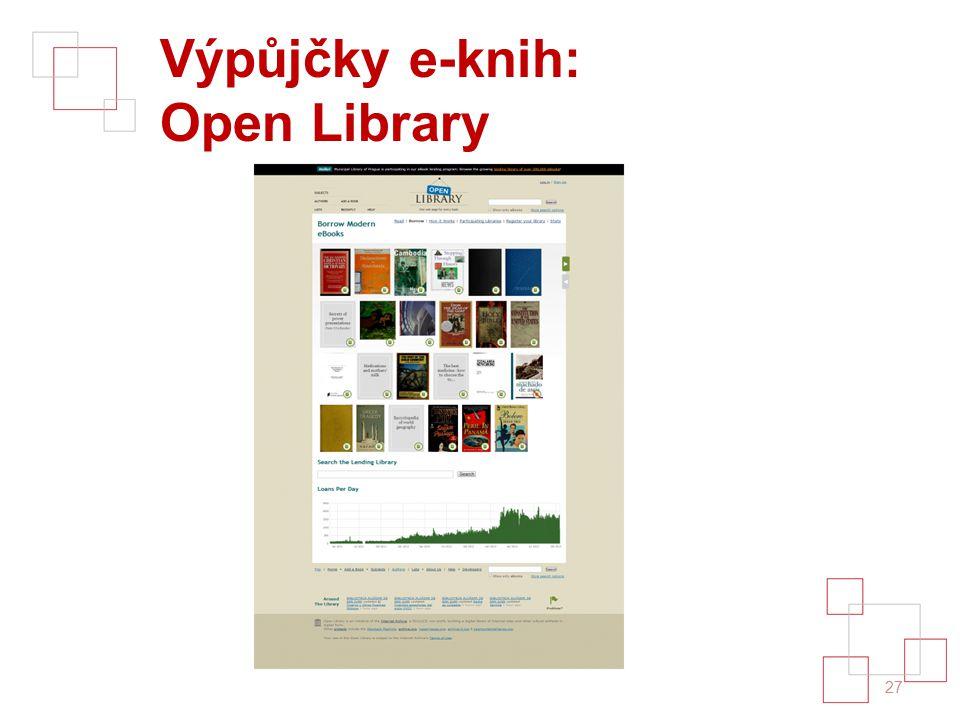 Výpůjčky e-knih: Open Library 27