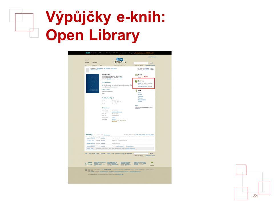 Výpůjčky e-knih: Open Library 28
