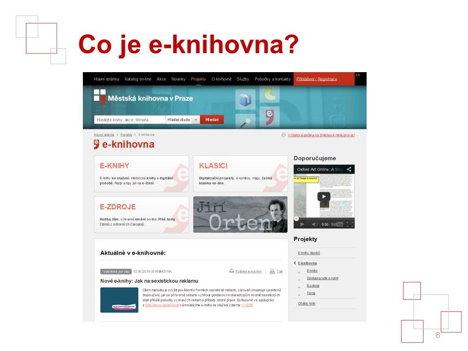 E-zdroje v MKP 9 Umění Věda Film Hudba Média Odborné časopisy na pobočkách vs. online...