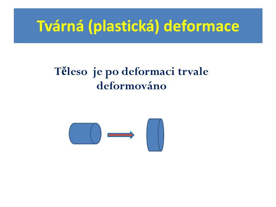 Tvárná (plastická) deformace T ě leso je po deformaci trvale deformováno
