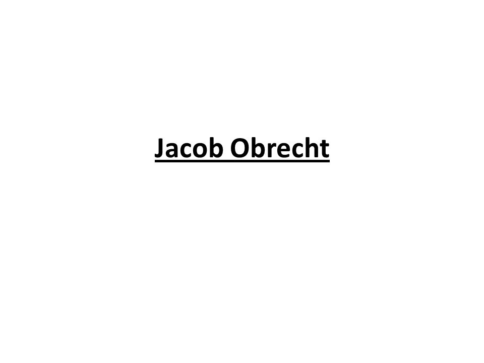 Jacob Obrecht