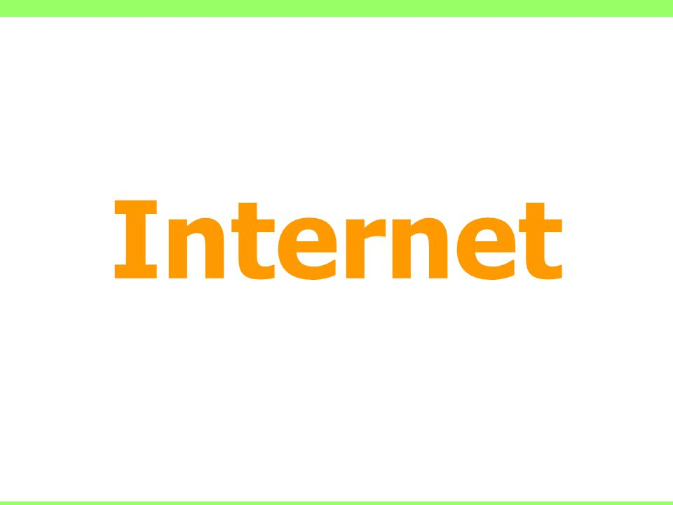 INTERNET Historie 60.