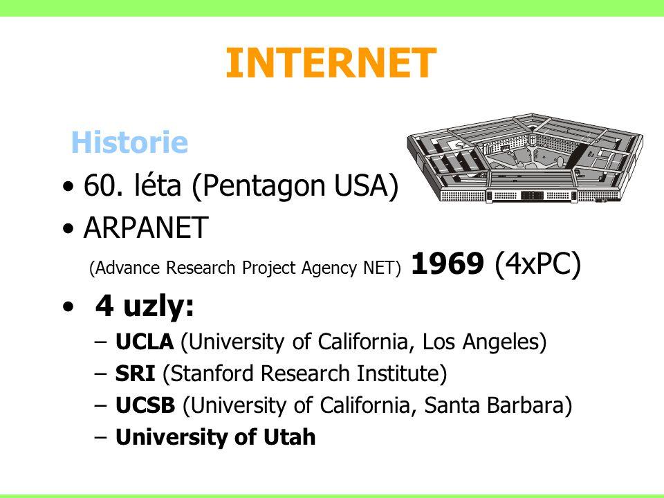 Adresa každý uživatel Internetu má jednoznačnou adresu tzv.
