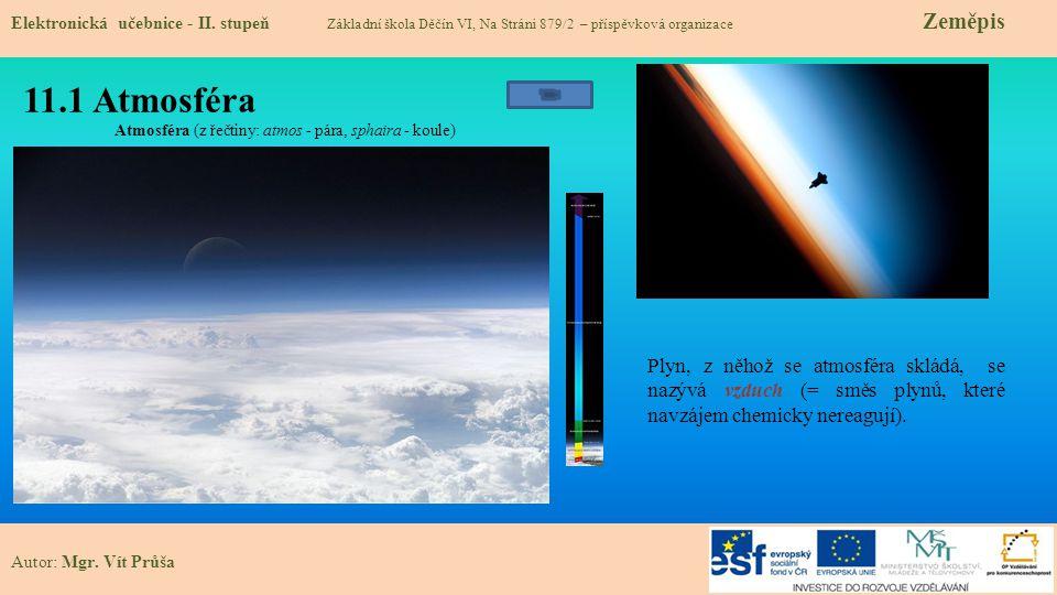 11.1 Atmosféra Elektronická učebnice - II.