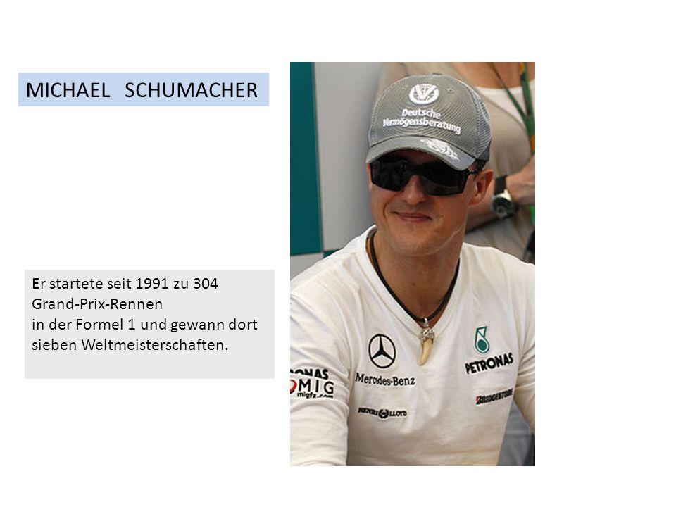 Er startete seit 1991 zu 304 Grand-Prix-Rennen in der Formel 1 und gewann dort sieben Weltmeisterschaften.