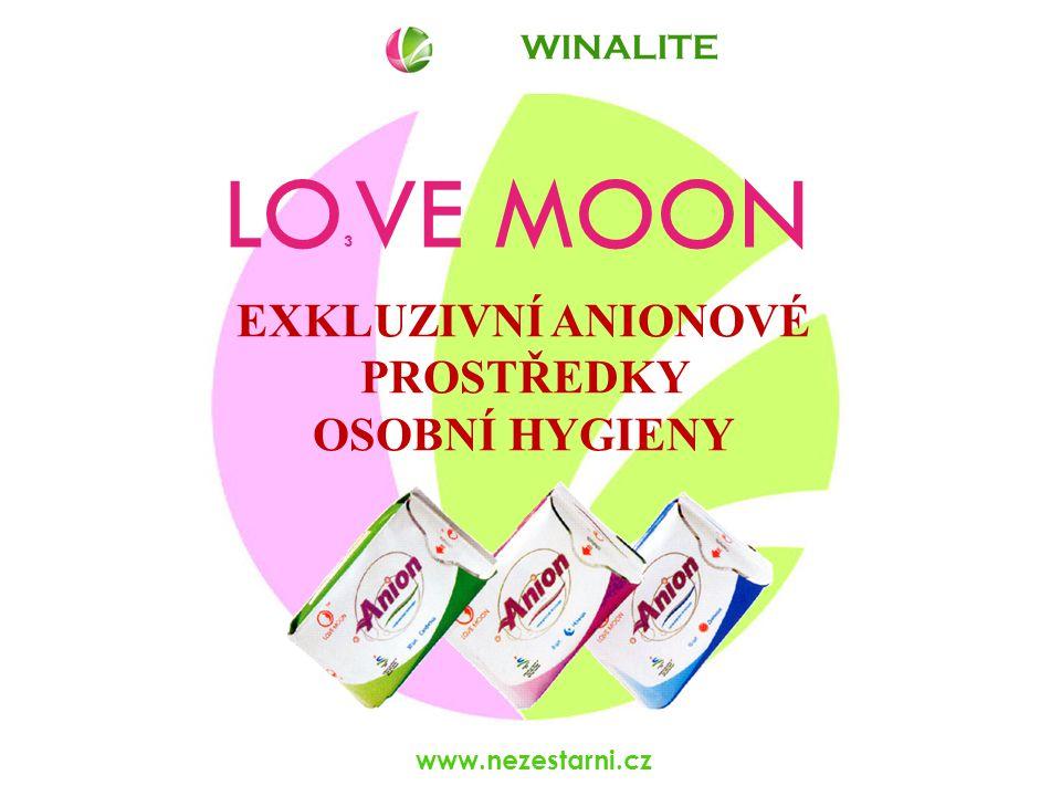 www.nezestarni.cz LO 3 VE MOON EXKLUZIVNÍ ANIONOVÉ PROSTŘEDKY OSOBNÍ HYGIENY WINALITE