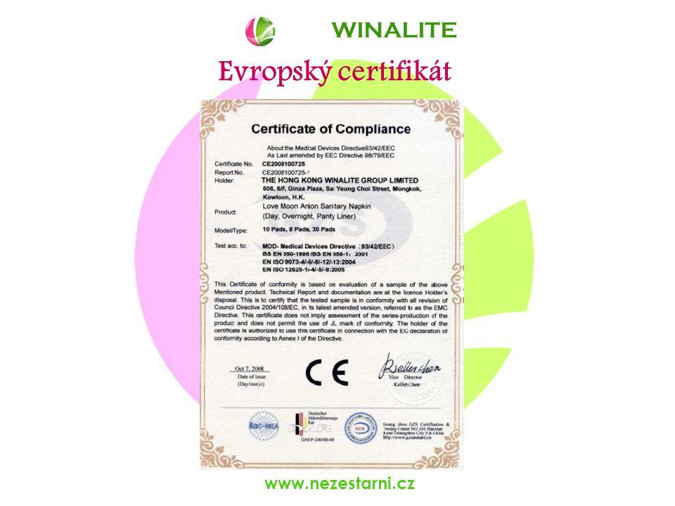 www.nezestarni.cz Evropský certifikát WINALITE