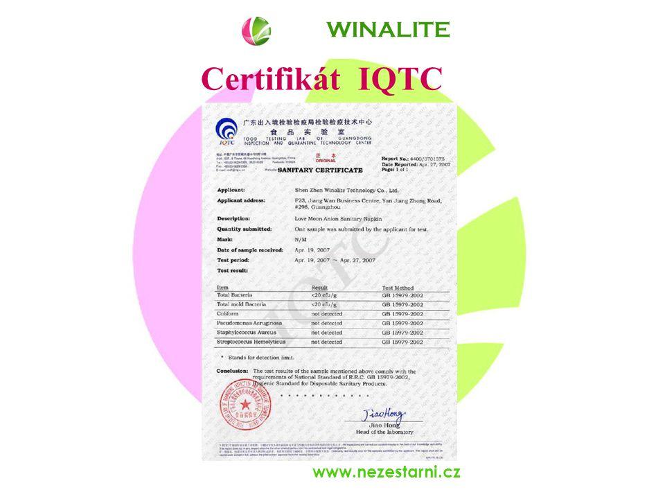 www.nezestarni.cz Certifikát IQTC WINALITE