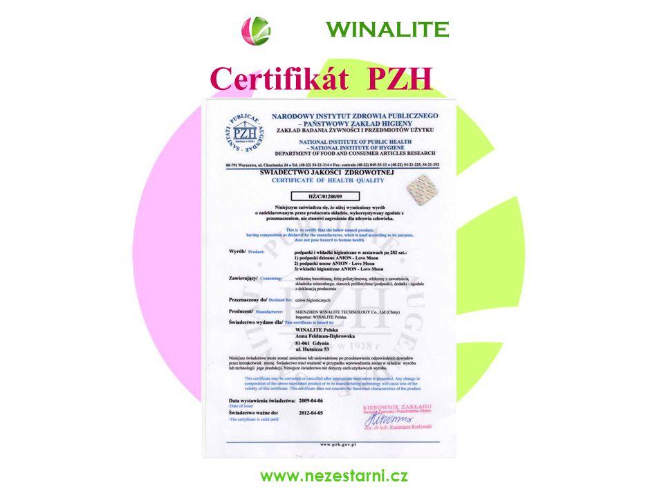 www.nezestarni.cz Certifikát PZH WINALITE