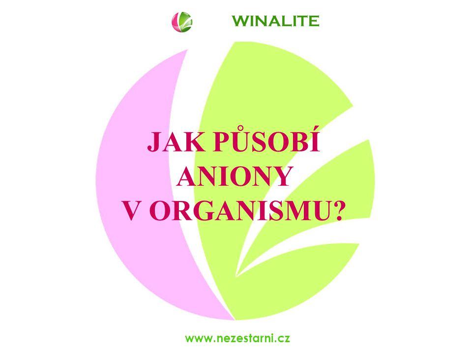 www.nezestarni.cz WINALITE Působení anionů je mnohasměrné