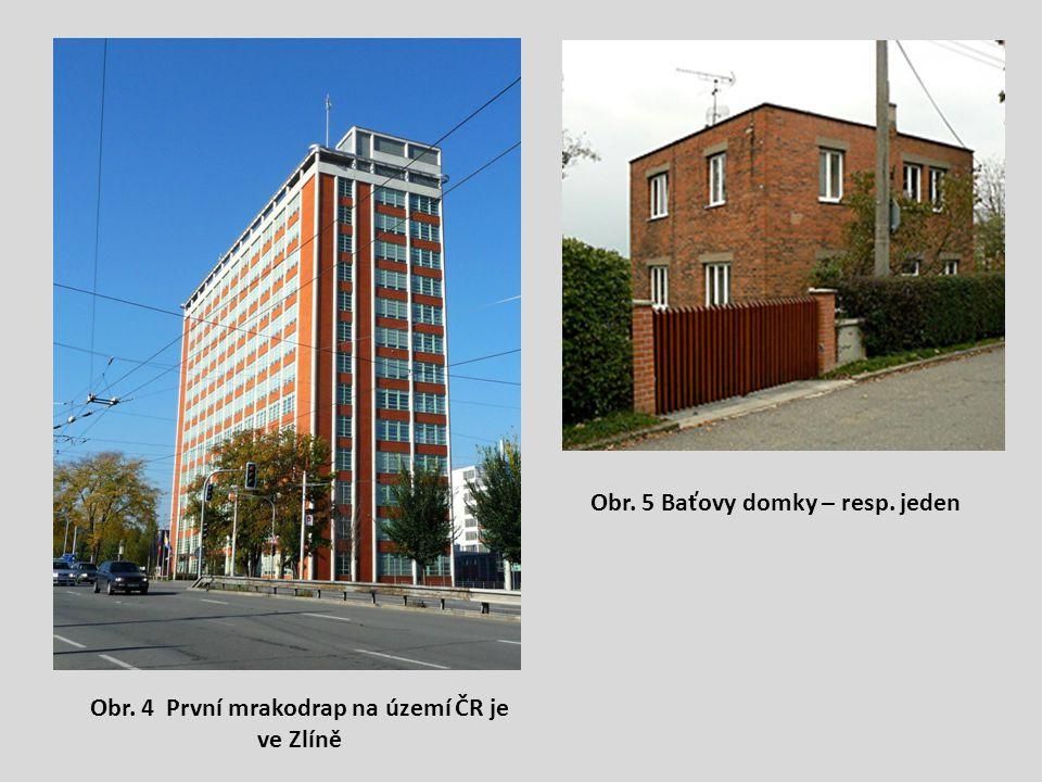 Obr. 4 První mrakodrap na území ČR je ve Zlíně Obr. 5 Baťovy domky – resp. jeden
