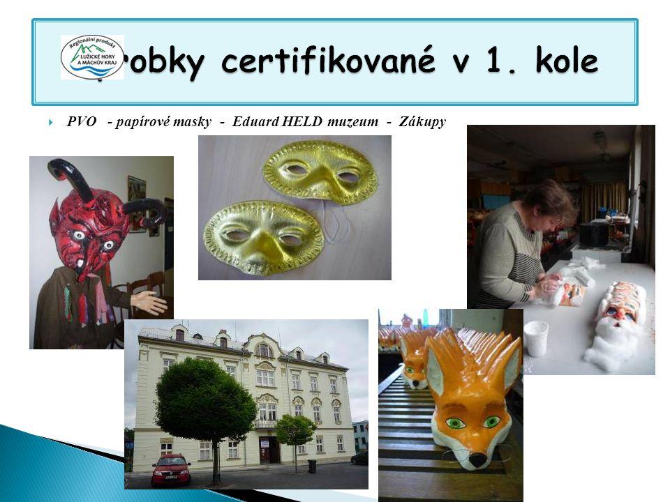  PVO - papírové masky - Eduard HELD muzeum - Zákupy
