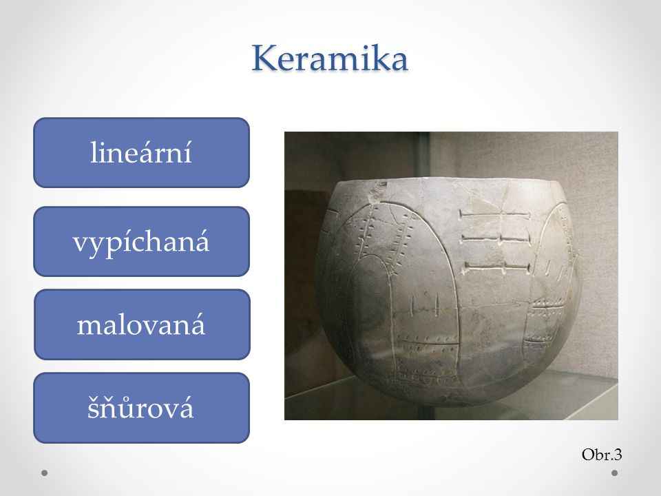 Keramika vypíchaná lineární malovaná šňůrová Obr.3