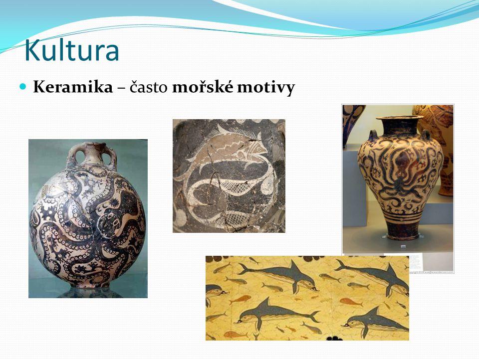Kultura Keramika – často mořské motivy