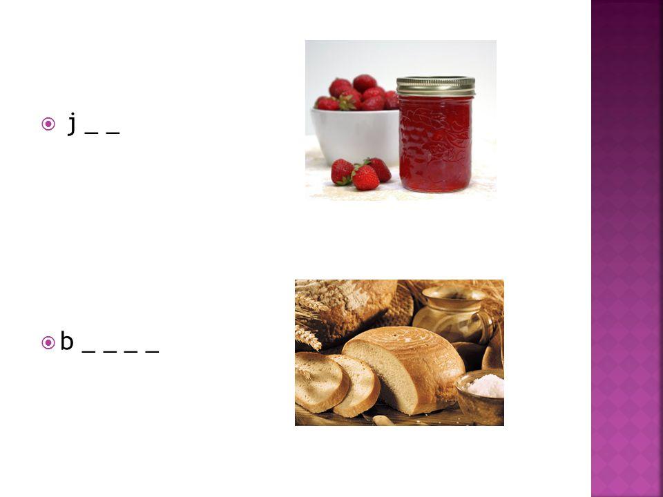  1) ham  2) honey  3) a roll  4) tea  5) butter  6) a mug  7) jam  8) bread
