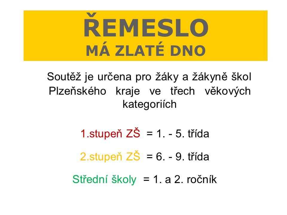 Soutěž je určena pro žáky a žákyně škol Plzeňského kraje ve třech věkových kategoriích 1.stupeň ZŠ = 1. - 5. třída 2.stupeň ZŠ = 6. - 9. třída Střední