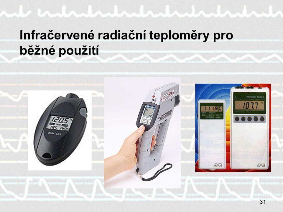 31 Infračervené radiační teploměry pro běžné použití