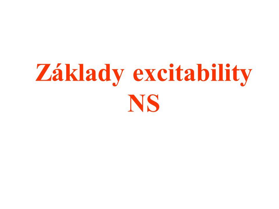Základy excitability NS
