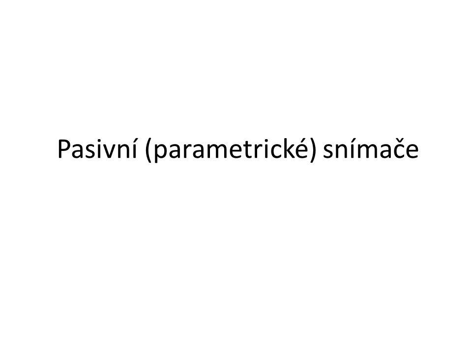 Pasivní (parametrické) snímače