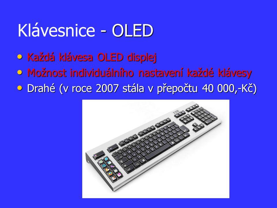 Každá klávesa OLED displej Každá klávesa OLED displej Možnost individuálního nastavení každé klávesy Možnost individuálního nastavení každé klávesy Dr