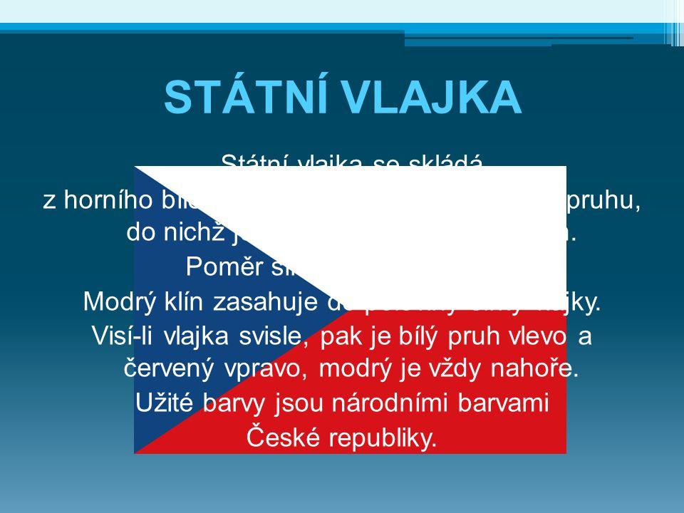 Státní vlajka se skládá z horního bílého pruhu a dolního červeného pruhu, do nichž je vsunut žerďový modrý klín. Poměr šířky k délce je 2:3. Modrý klí