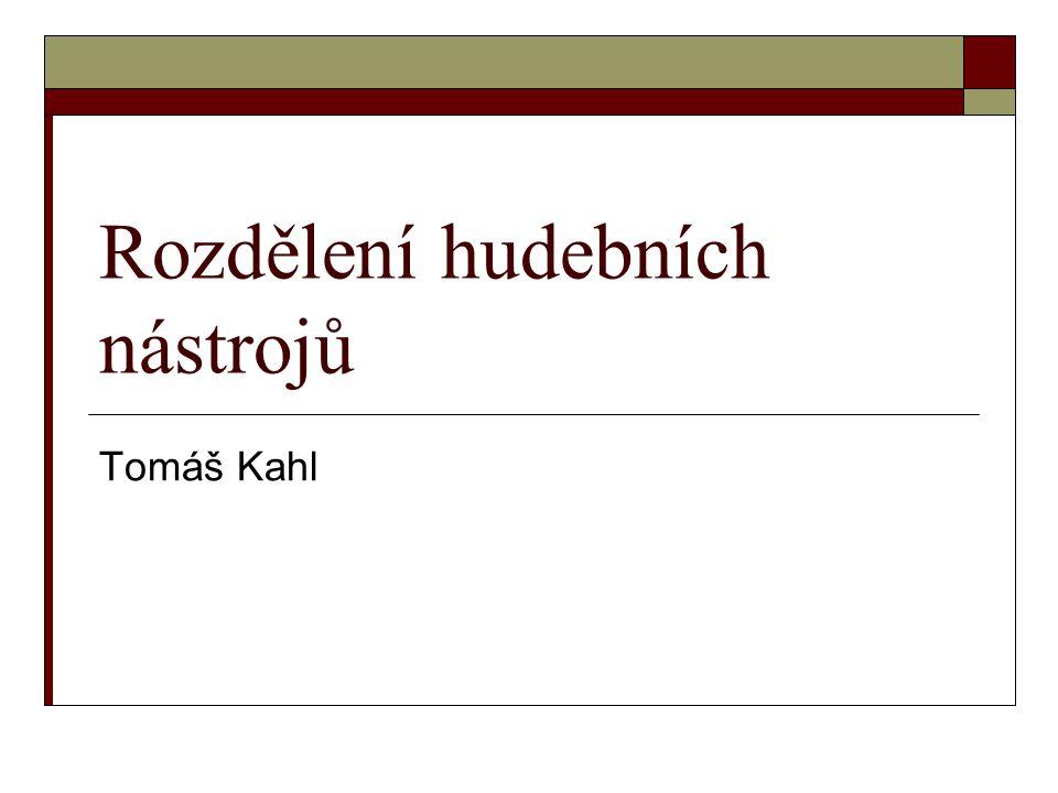 Rozdělení hudebních nástrojů Tomáš Kahl