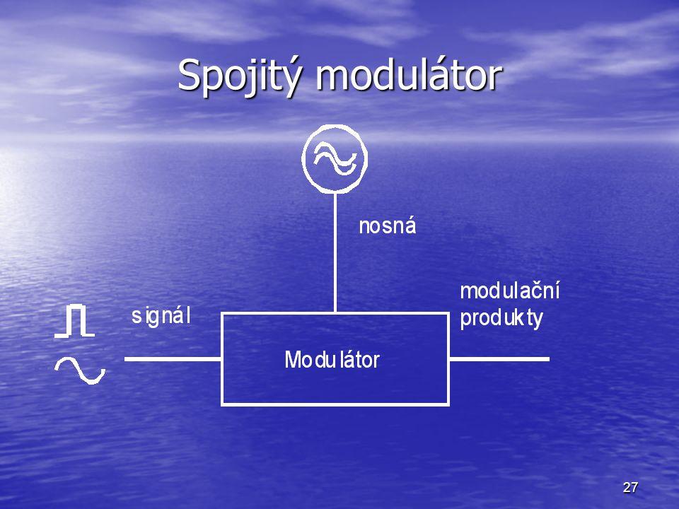 27 Spojitý modulátor