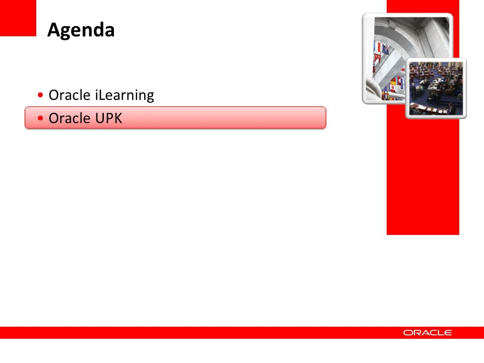 Agenda Oracle iLearning Oracle UPK