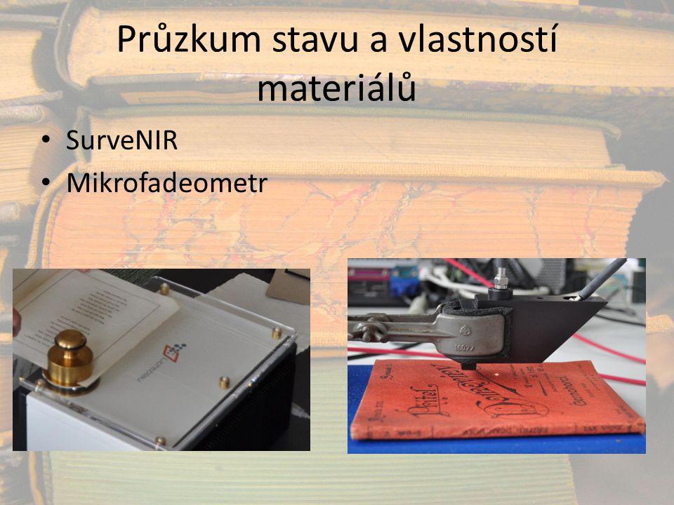 Průzkum stavu a vlastností materiálů SurveNIR Mikrofadeometr