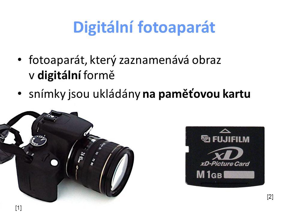 Digitální fotoaparát fotoaparát, který zaznamenává obraz v digitální formě snímky jsou ukládány na paměťovou kartu [1] [2]