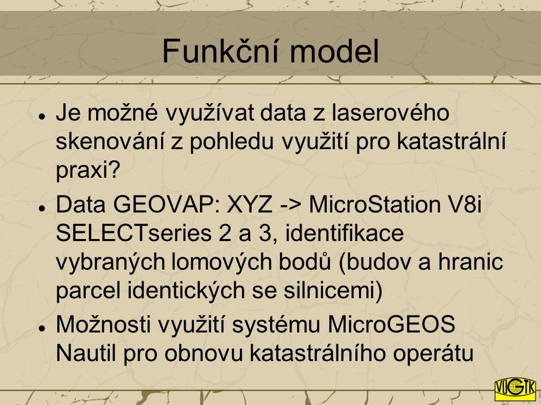 Funkční model Je možné využívat data z laserového skenování z pohledu využití pro katastrální praxi.
