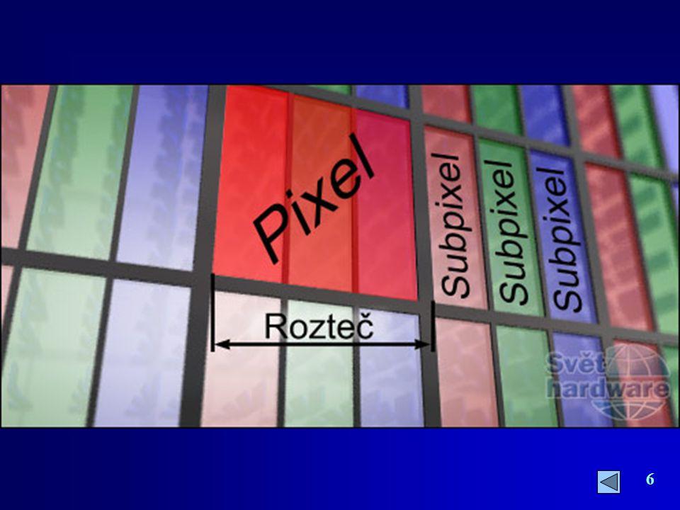37 BEZ TEORIE TO PROSTĚ NEJDE BAREVNÁ HLOUBKA Každý z jednotlivých bodů barevného obrázku může nabývat jednu z barev zvolené barevné palety.