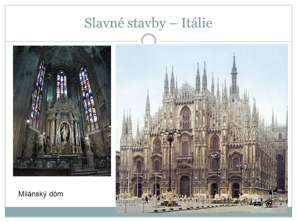 Milánský dóm Slavné stavby – Itálie