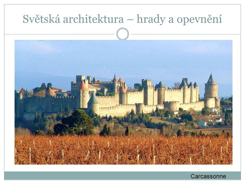 Světská architektura – hrady a opevnění Carcassonne