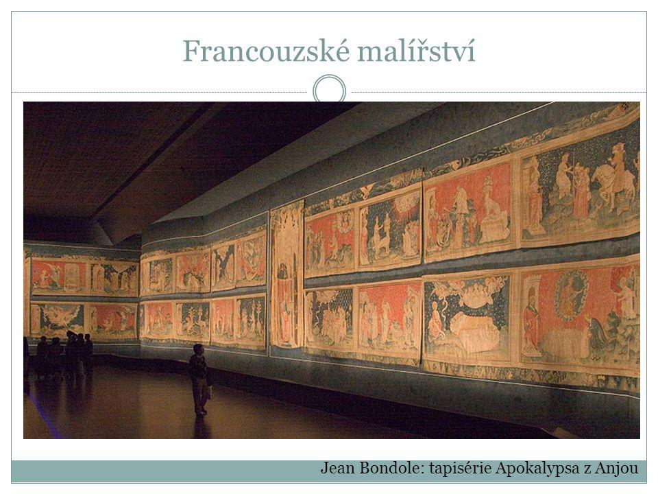 Francouzské malířství Jean Bondole: tapisérie Apokalypsa z Anjou