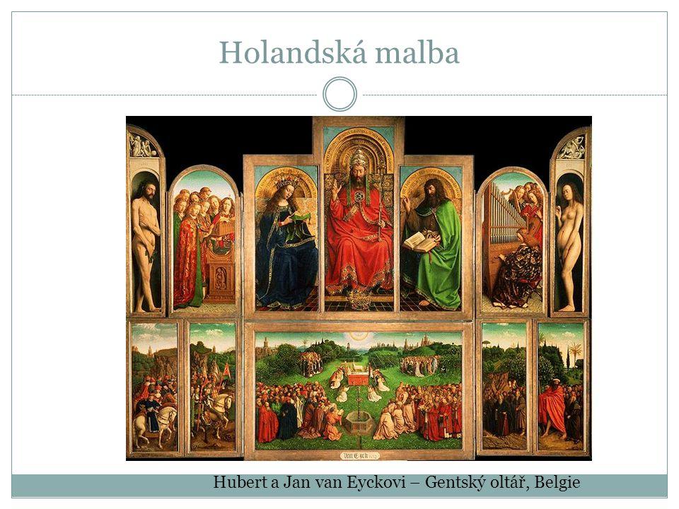 Hubert a Jan van Eyckovi – Gentský oltář, Belgie Holandská malba