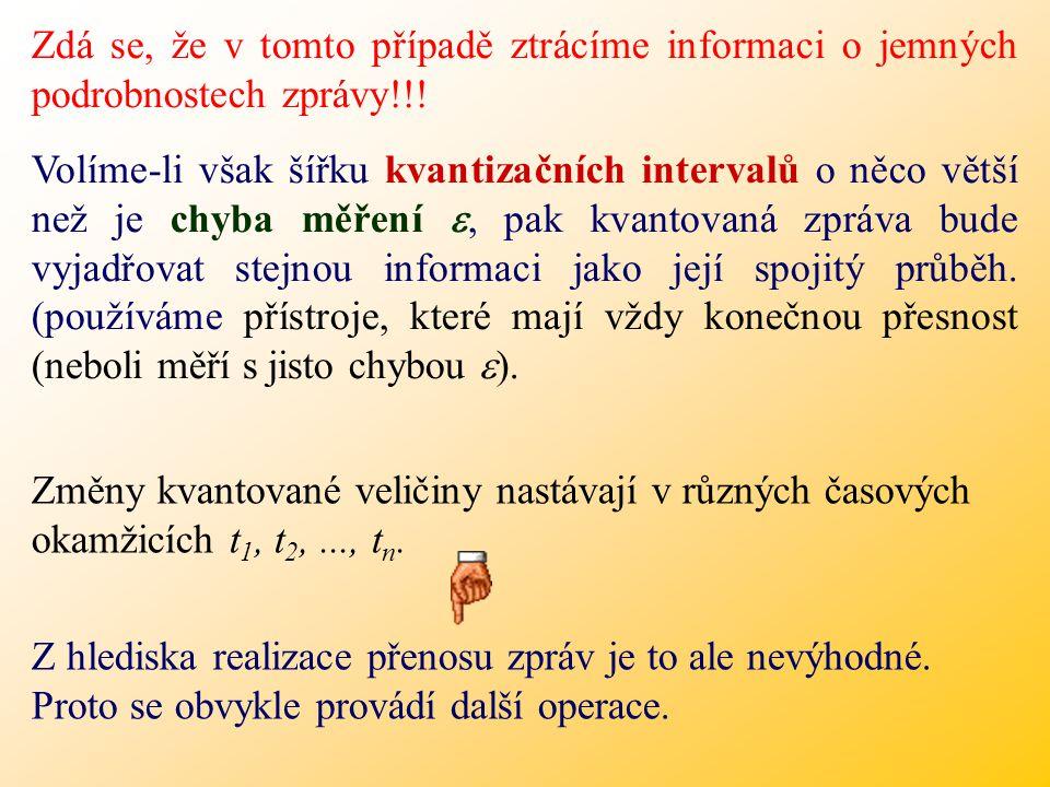 T0T0 T [  C] T1T1 T2T2 T3T3 T4T4 T5T5 t1 t1 t 2 t 3 t 4 t 5 t[min] Touto operací jsme docílili toho, že počet prvků abecedy zdroje (tj.